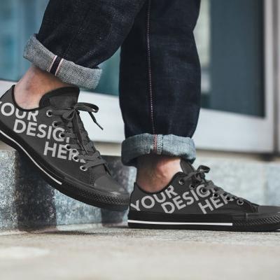 black-men-shoe-Mockup